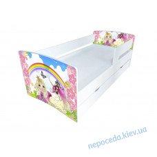 Детская кроватка Kinder-Cool без ящика Принцесса и радуга длина - 174 см