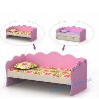 Детская кровать для девочки диван Pink-11-3 для девочки