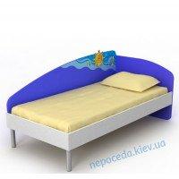 """Детская кровать для мальчика со спинкой  """"Океан"""""""