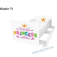 Детская кровать Принцесса (Киндер) 170*80см с бортиком + ящики