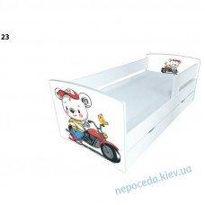 """Кровать для мальчика """"Мишка на мотоцикле"""" с ящиком"""