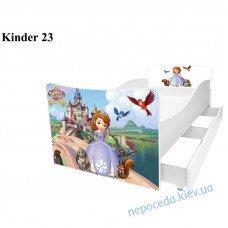 Детская кровать София с ящиками 150см белая