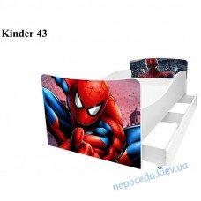 Детская кровать Спайдермэн (Киндер 43) 170см с ящиками, мебель мальчикам