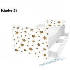 Дитяче ліжко Зірочки 160 * 80см + ящики і бортик