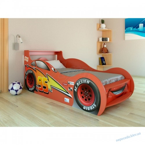 """Детская кровать машина """"Молния Маквин"""""""