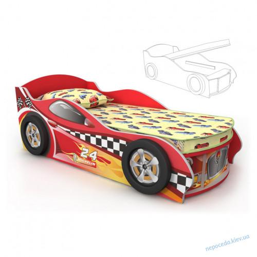 Кровать-машинка (матрас 70*150см)
