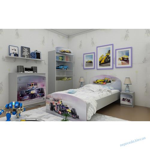 Кровать с машинкой Формула-1 (2 размера)