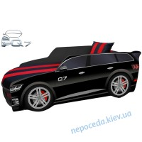 Кровать-машина детская Premium Q7 черная