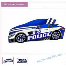 """Детская кровать машинка """"Элит E-8 Police"""" с матрасом и подушечкой"""