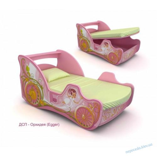 Кровать карета для девочки Cinderella 150см
