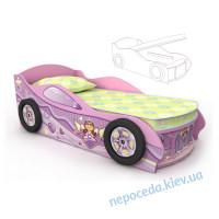 Кровать-машинка (170см) Pn-11-80mp для девочки
