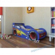 """Кровать машина """"Молния Маквин"""" цвет синий"""