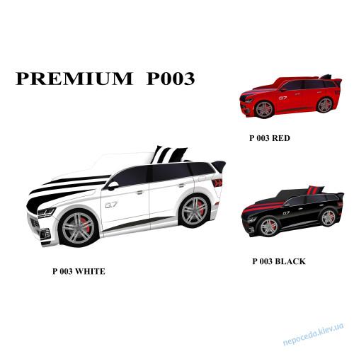Кровать машинка джип Premium Q7 белая с матрасом