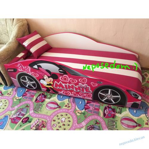 """Кровать машина """"Минни"""" для принцессы"""