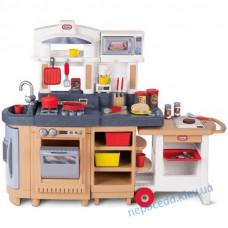 Детская интерактивная игровая кухня с тележкой
