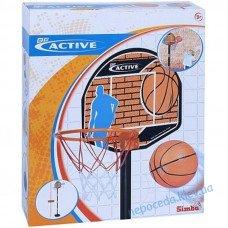 """Набір """"Баскетбол"""" з корзиною червоний"""