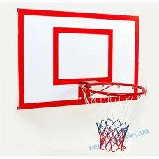 Щит баскетбольний з кільцем і сіткою (щит - метал.)
