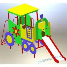 Игровой элемент Паровоз с горкой на детскую площадку