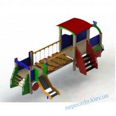 Паровоз детский игровой с горочкой (большой)