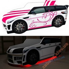 Кровать машина для девочки Premium подсветка Led Внедорожник