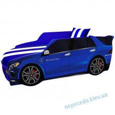 Детская кровать-машинка MERCEDES PREMIUM синяя с матрасом