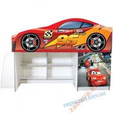 Кровать машина со шкафом и полками Тачка
