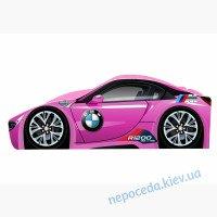 Кровать машинка для девочки Pink