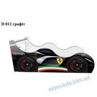 Кровать машинка Ferrari black-80*170см Драйв