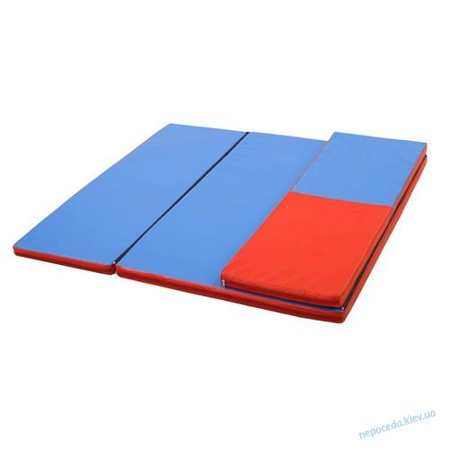 Гимнастический мат складной Домино 120х160x4 см