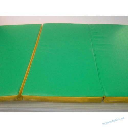 Мат гимнастический детский раскладной (три сложения)