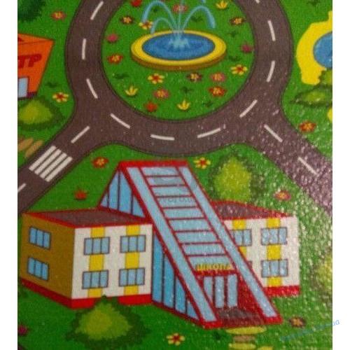 """Детский развивающий игровой коврик """"Город"""" 1200х550см"""