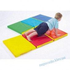 Складной детский мат 150х50х5 см с 3-х частей