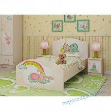 """Детская кровать для девочки """"Зайки"""""""