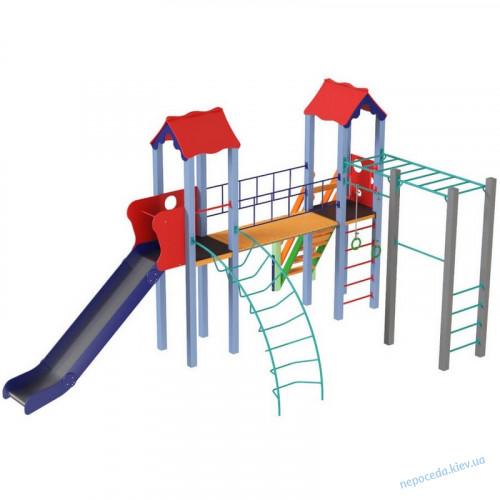 Детский комплекс Универсал высота горки 1,8 м