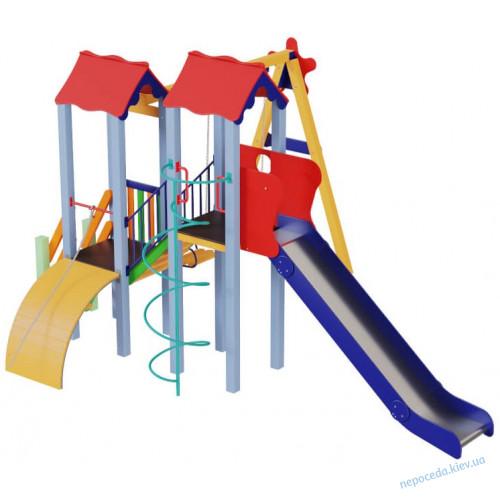 Детский комплекс Авалон с металической горкой H 1,5 м
