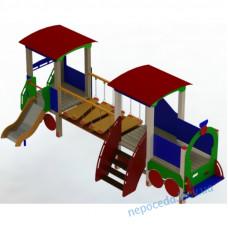 """Дитячий ігровий комплекс """"Паровозик з вагончиком"""" на дитячий майданчик"""