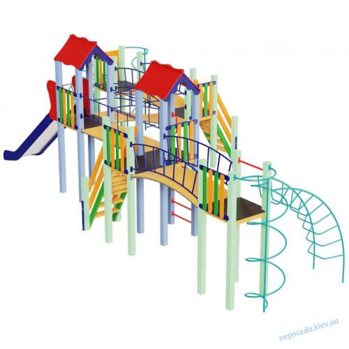 Детский комплекс Змейка с горкой 1,5 м