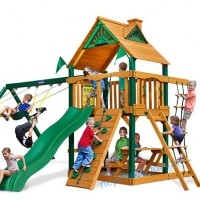 Дитячі дерев'яні ігрові майданчики вуличні Люкс-1