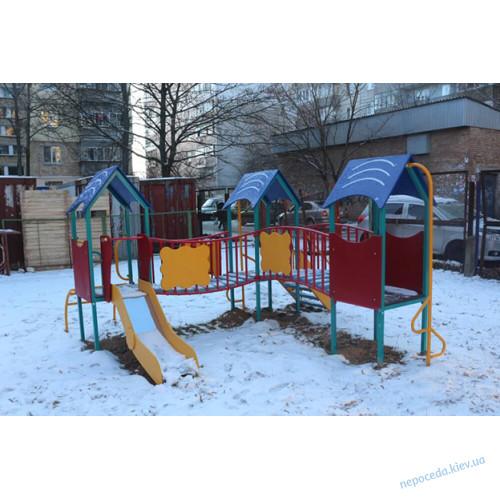 """Детский комплекс """"Радость"""" трёхбашенный"""