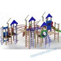 """Игровой комплекс """"Крепость друзей"""" 1,2 м для улицы на детскую площадку.."""
