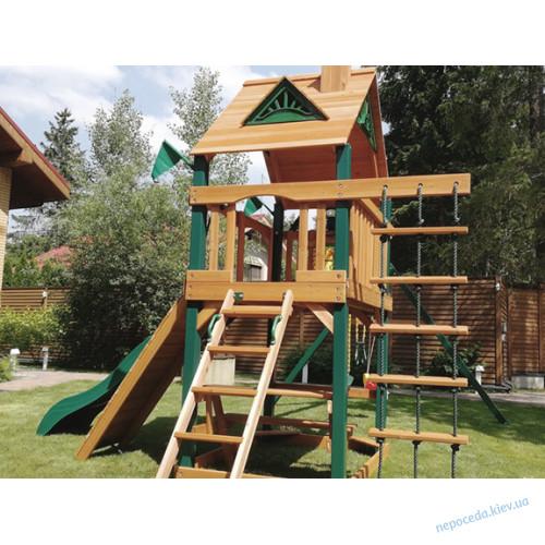 Дитячі дерев'яні ігрові майданчики вуличні Люкс-1. Сучасна дитяча площадка