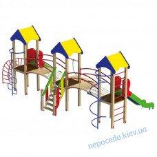 """Игровой комплекс """"Три башни"""" на площадку"""