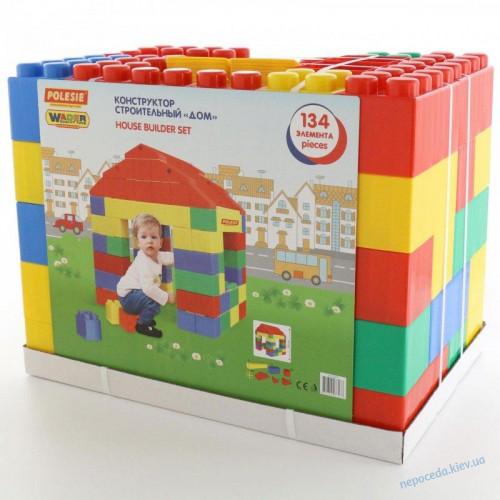 Дитячий конструктор-будиночок з 134 елементів