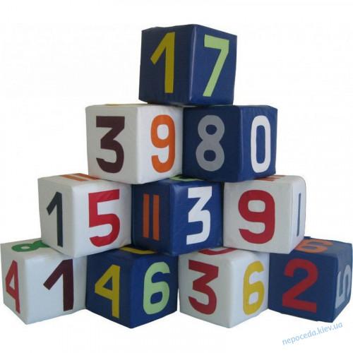 Детский набор кубиков Цифры разноцветные