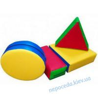 Детский мягкий модульный конструктор, 4 эл.
