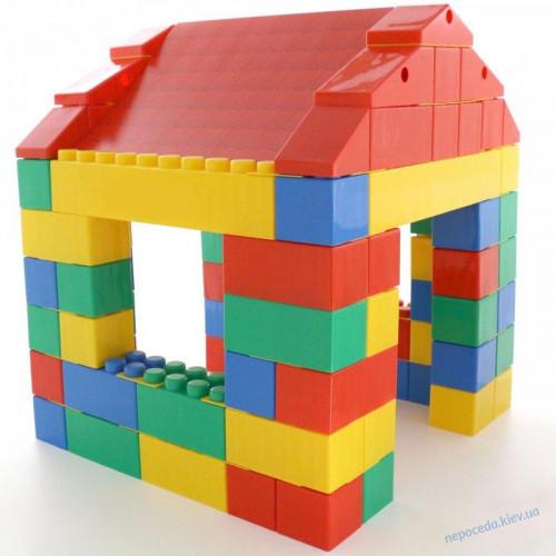 Детский конструктор-домик из 134 элементов
