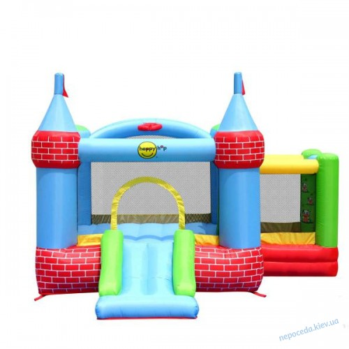 Надувной батут для детей Крепость с горкой для улицы
