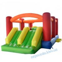 Детский надувной батут KIDIGO Fun World с двумя горками