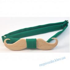 Деревянная бабочка (зеленый)