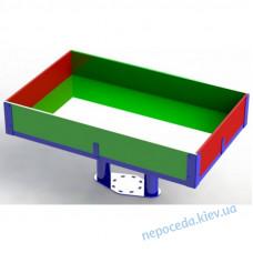 Песочница прямоугольная для детей с ОФВ